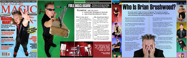 booklet on brian and the bizarre magic show
